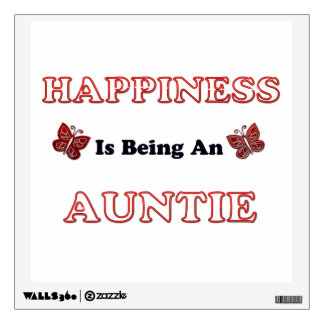 Happiness Is Being An Auntie Wall Sticker