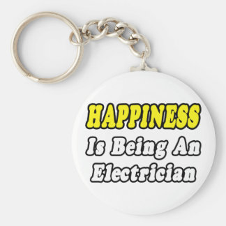 Happiness Is Being an Electrician Keychain