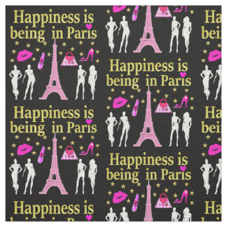 HAPPINESS IS BEING IN PARIS FABRIC