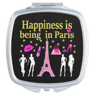 HAPPINESS IS BEING IN PARIS MAKEUP MIRROR