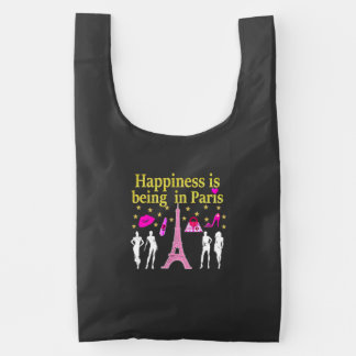 HAPPINESS IS BEING IN PARIS REUSABLE BAG