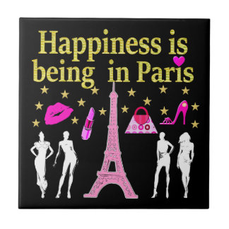HAPPINESS IS BEING IN PARIS TILE