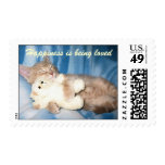 Happiness is being loved Postage Stamp