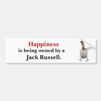 Happiness is being owned by a Jack Russell Car Bumper Sticker