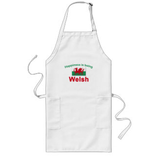 Happiness is Being Welsh Long Apron