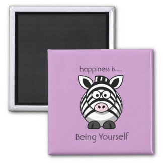Happiness is Being Yourself Quote Magnet