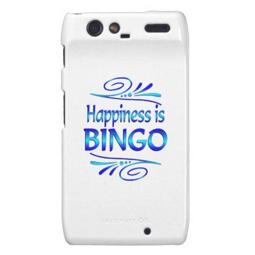 Happiness is BINGO Motorola Droid RAZR Case