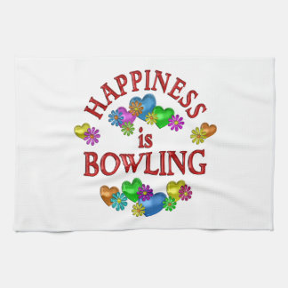 Happiness is Bowling Kitchen Towel