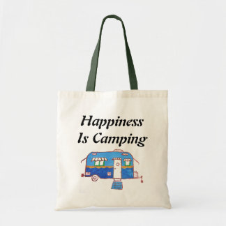 Happiness Is Camping Budget Tote Bag