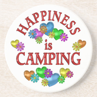 Happiness is Camping Beverage Coasters