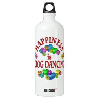 Happiness is Clog Dancing Aluminum Water Bottle