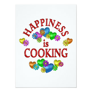 Happiness is Cooking Custom Invites