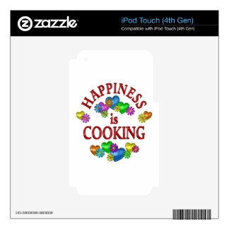 Happiness is Cooking iPod Touch 4G Decal
