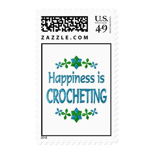 Happiness is Crocheting Postage Stamps