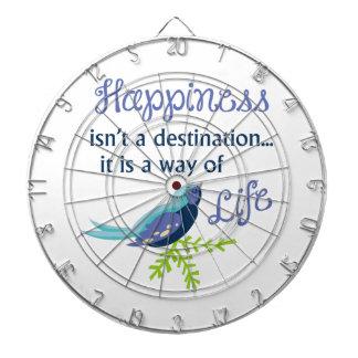 Happiness Is Dart Board