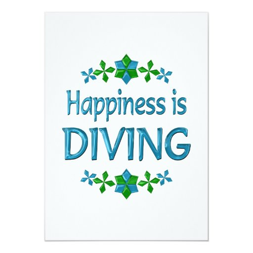 Happiness is Diving 5x7 Paper Invitation Card