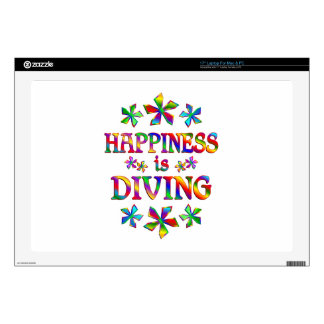 "Happiness is Diving Decal For 17"" Laptop"