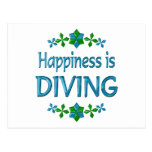 Happiness is Diving Postcard