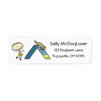 Happiness is Dog Agility Label