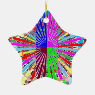 HAPPINESS is feeling ORDER in the CHAOS Ceramic Ornament