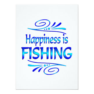 Happiness is FISHING Custom Announcements