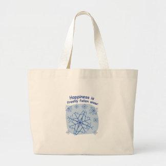 Happiness Is Freshly Fallen Snow! Jumbo Tote Bag