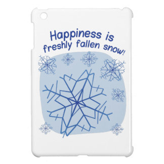 Happiness Is Freshly Fallen Snow! iPad Mini Cover