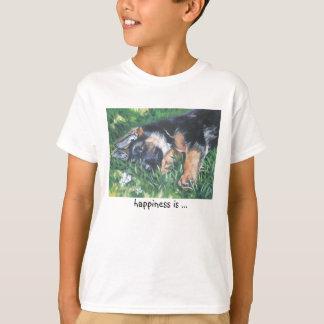 happiness is ... German Shepherd t-shirt
