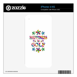 Happiness is Golf iPhone 4S Decal