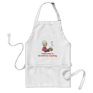 HAPPINESS IS GRANDMA'S COOKING ADULT APRON