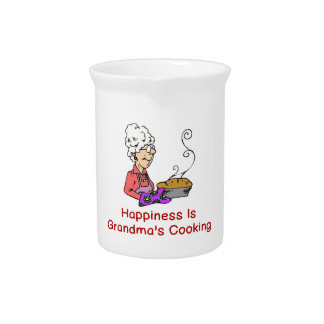 HAPPINESS IS GRANDMA'S COOKING BEVERAGE PITCHERS