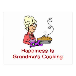 HAPPINESS IS GRANDMA'S COOKING POSTCARD