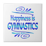 Happiness is GYMNASTICS Ceramic Tile