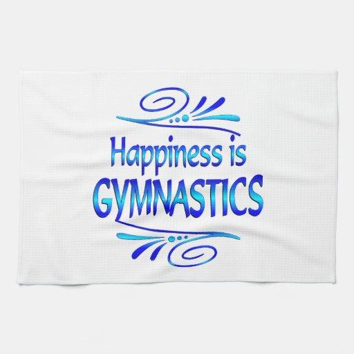 Happiness is GYMNASTICS Kitchen Towel