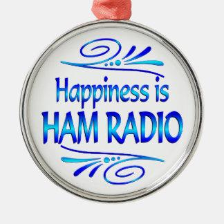 Happiness is HAM RADIO Christmas Ornament