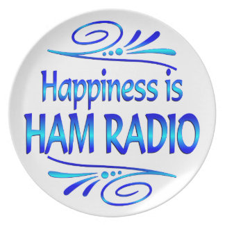 Happiness is HAM RADIO Party Plate