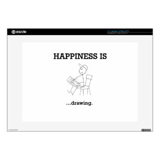 """Happiness is ...Having 15"""" Laptop Decal"""
