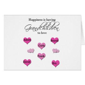 Happiness is Having Grandchildren to Love Card
