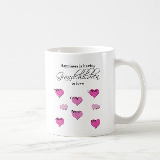 Happiness is Having Grandchildren to Love Mugs