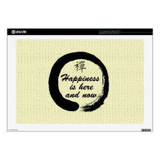 Happiness is Here and Now Laptop Decals