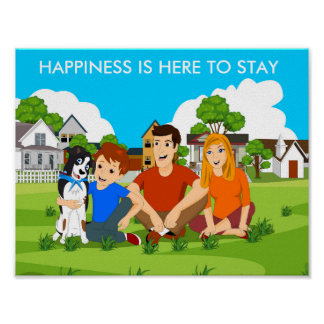 Happiness is here to stay poster