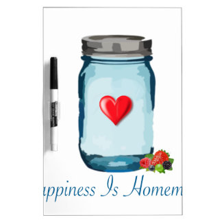 HAPPINESS IS HOMEMADE (MASON JAR) DRY ERASE BOARD