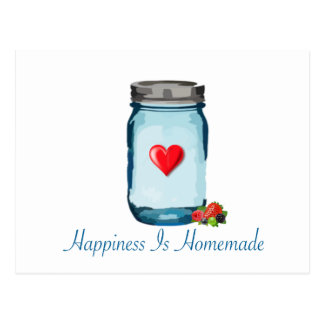 HAPPINESS IS HOMEMADE (MASON JAR) POSTCARD
