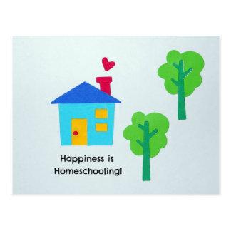 Happiness is Homeschooling! Postcard