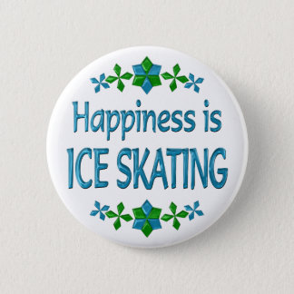 Happiness is Ice Skating Button
