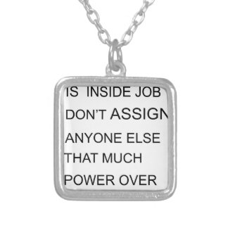 happiness is in inside job don't assign anyone  el silver plated necklace