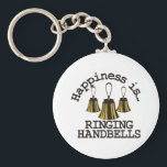 "Happiness is… keychain<br><div class=""desc"">Handbells are example of everyone working together to create something amazing.  Create a special shirt for your director or handbell team members.  Add your group name for a personal touch.</div>"