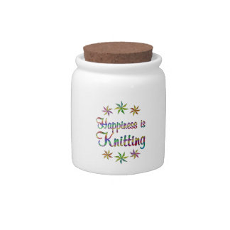 Happiness is Knitting Candy Jars