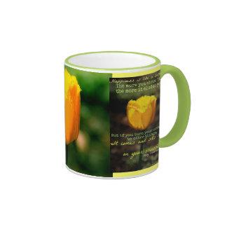 Happiness is like a butterfly mug