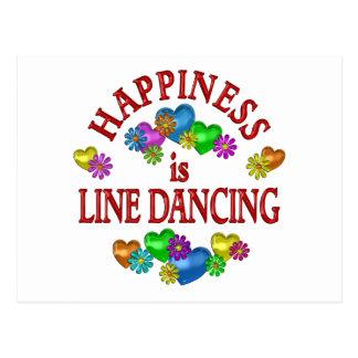 Happiness is Line Dancing Postcard